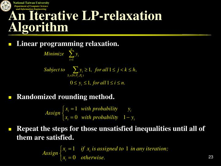 An Iterative LP-relaxation Algorithm
