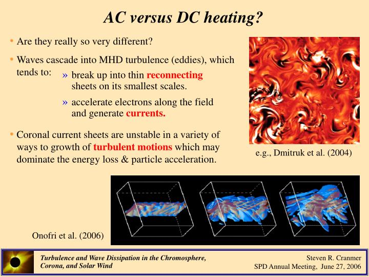 AC versus DC heating?