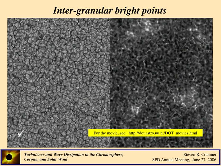 Inter-granular bright points