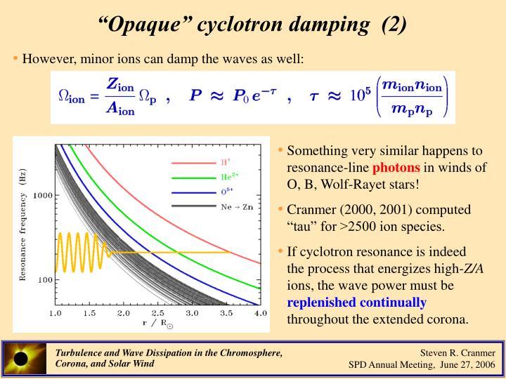 """""""Opaque"""" cyclotron damping  (2)"""
