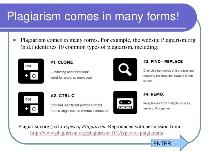 Plagiarism comes in many forms!