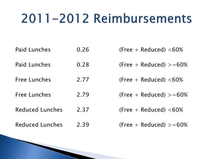 2011-2012 Reimbursements
