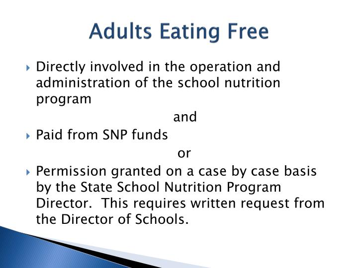 Adults Eating Free