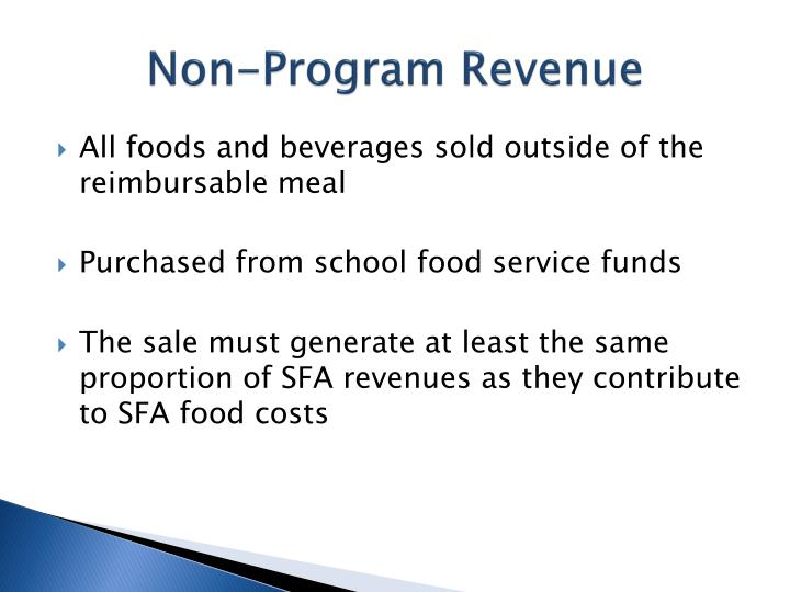 Non-Program Revenue
