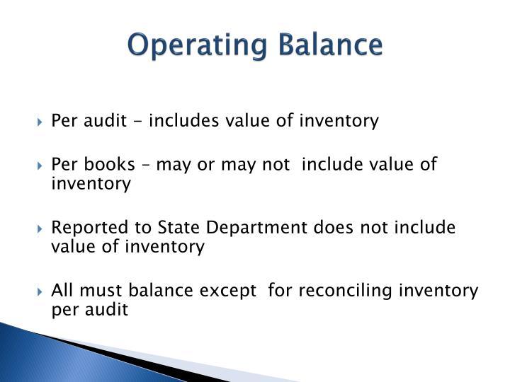 Operating Balance