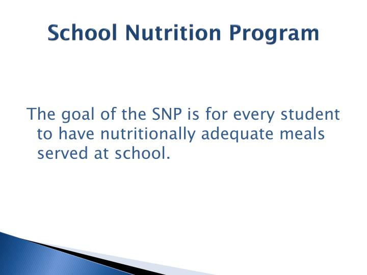 School Nutrition Program
