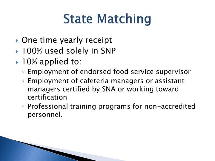 State Matching