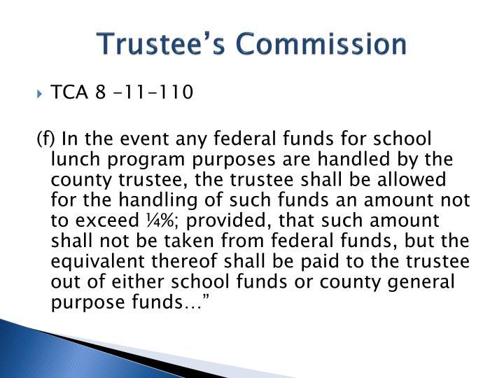 Trustee's Commission
