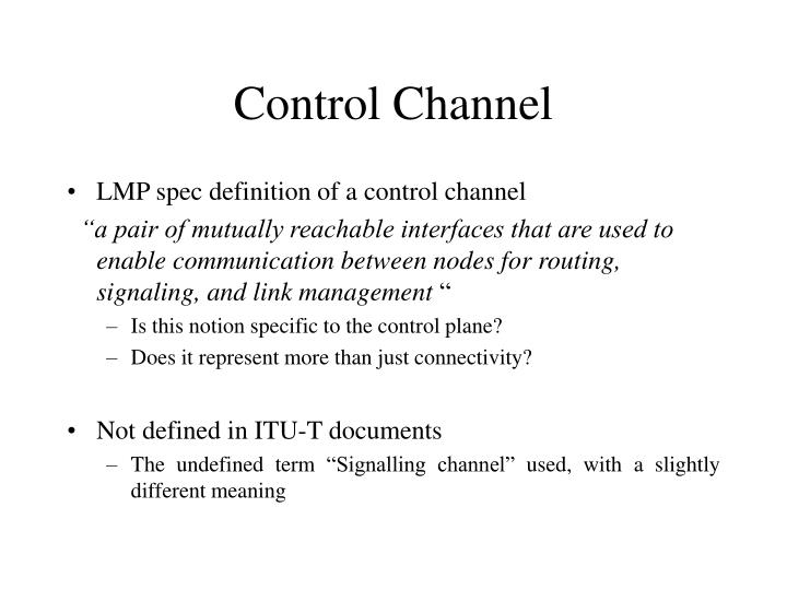 Control channel
