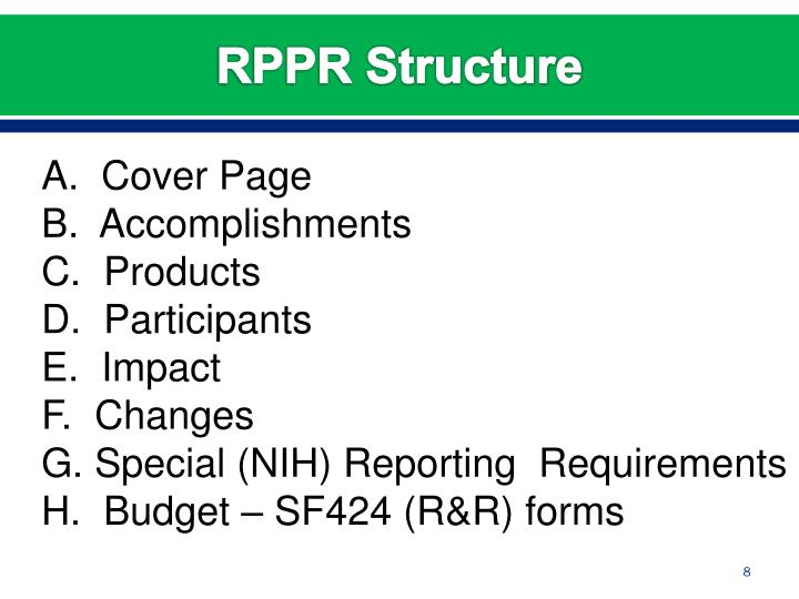RPPR Structure