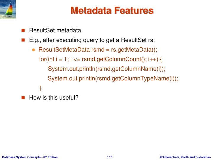 Metadata Features