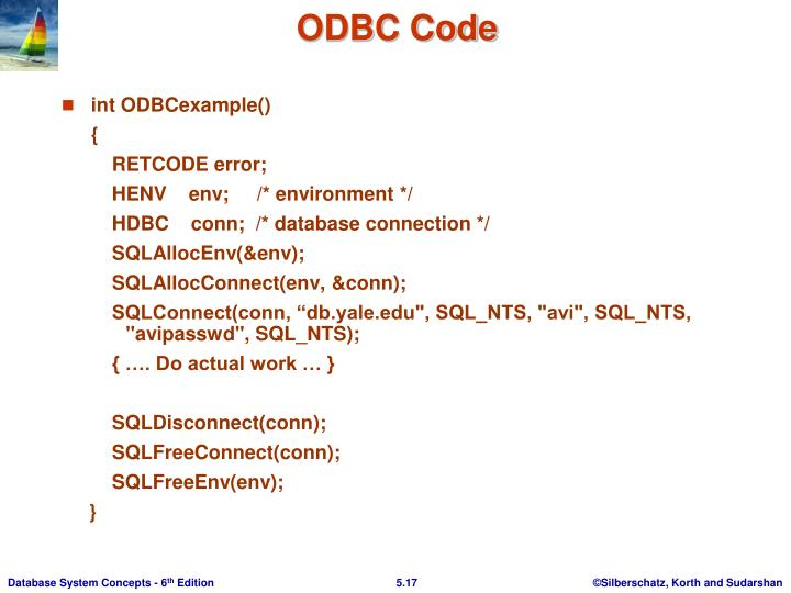 int ODBCexample()