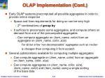 olap implementation cont