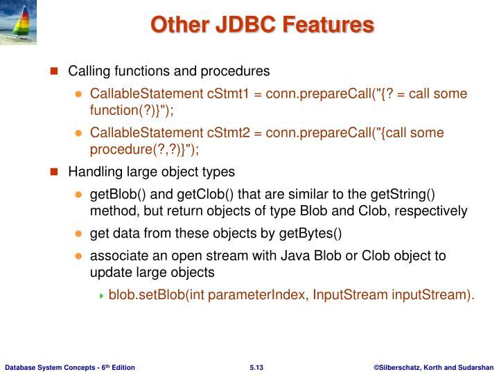 Other JDBC Features