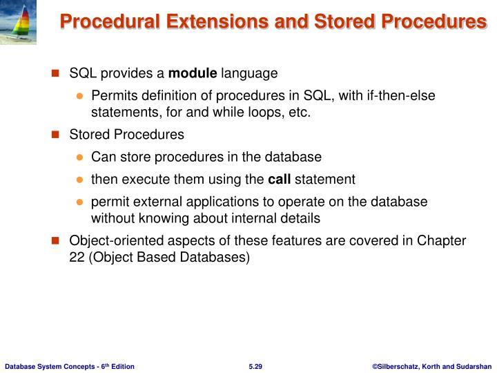SQL provides a