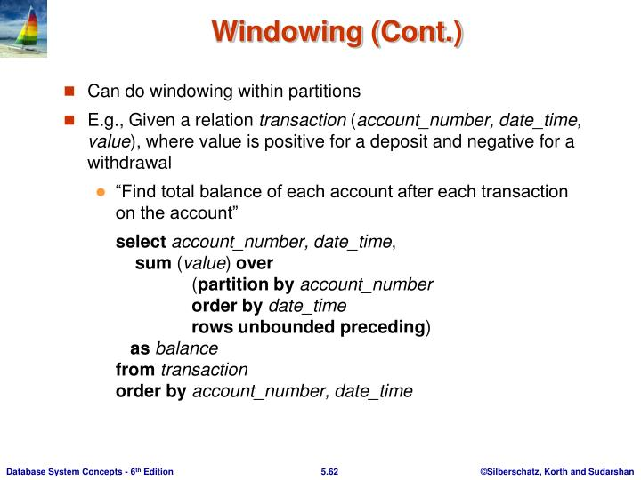 Windowing (Cont.)