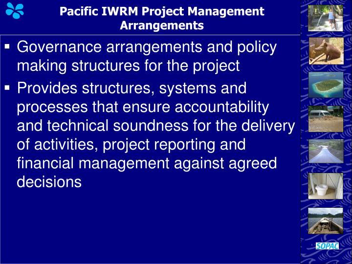 Pacific IWRM Project Management Arrangements