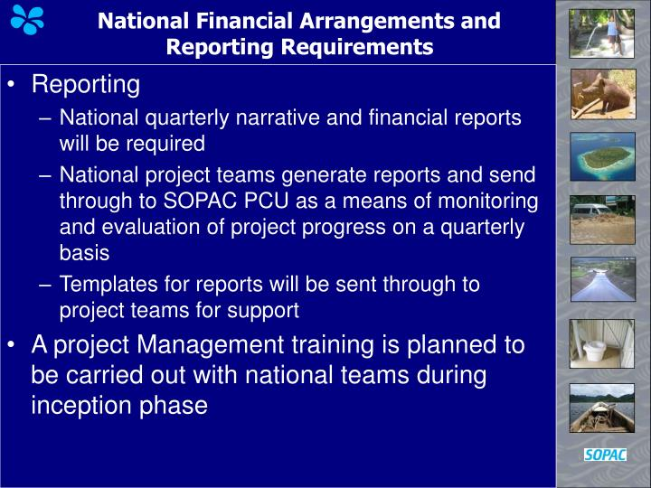 National Financial Arrangements and Reporting Requirements