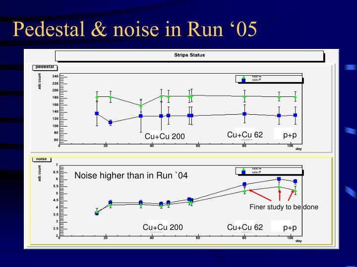 Pedestal & noise in Run '05