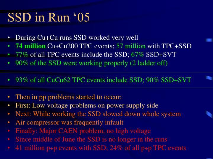 SSD in Run '05