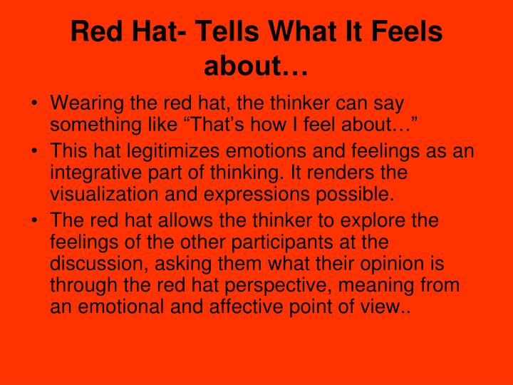 Red Hat- Tells What It Feels about…
