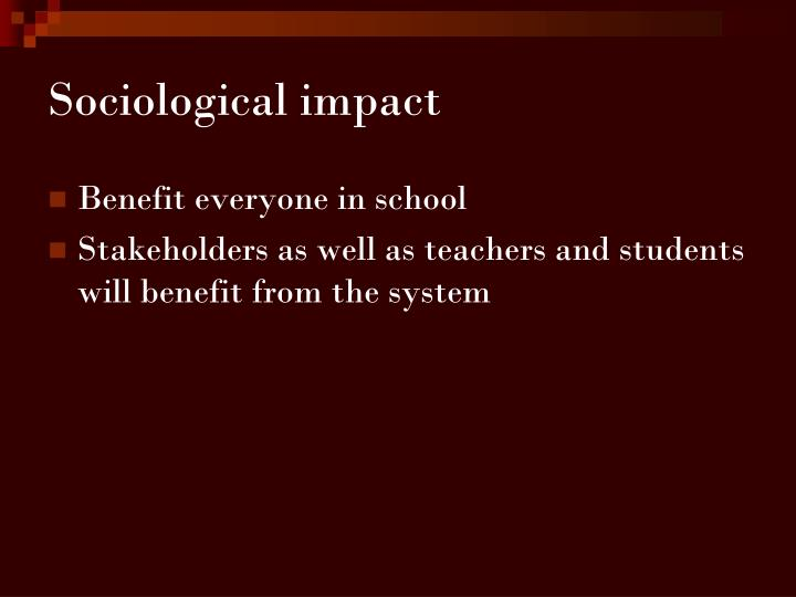 Sociological impact