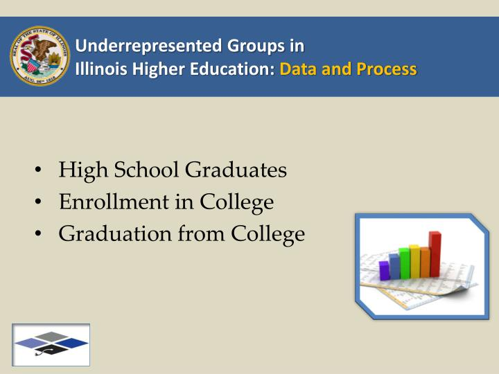 Underrepresented groups in illinois higher education data and process