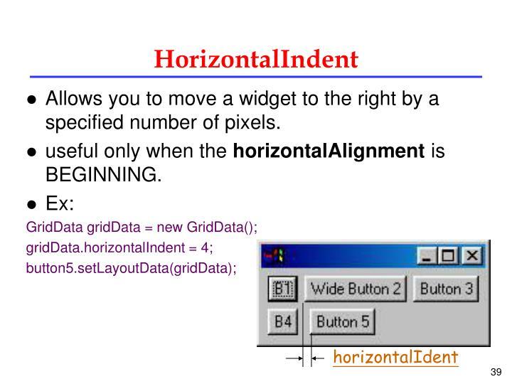 HorizontalIndent