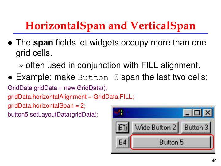 HorizontalSpan and VerticalSpan