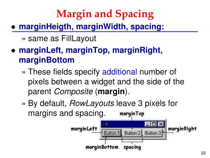 Margin and Spacing