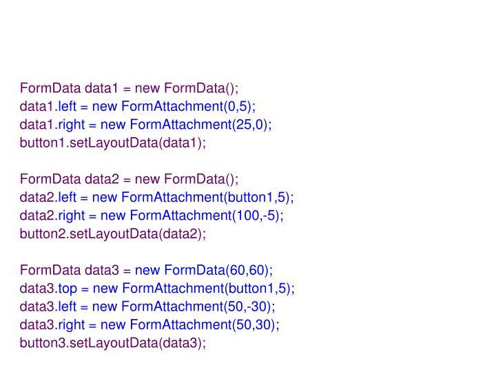 FormData data1 = new FormData();