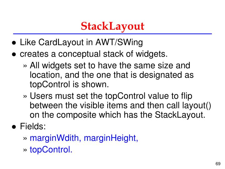 StackLayout