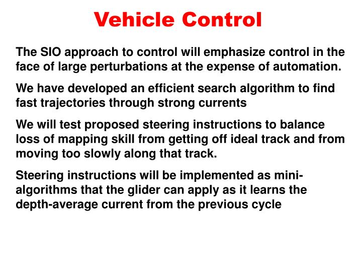 Vehicle control
