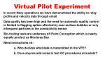 virtual pilot experiment