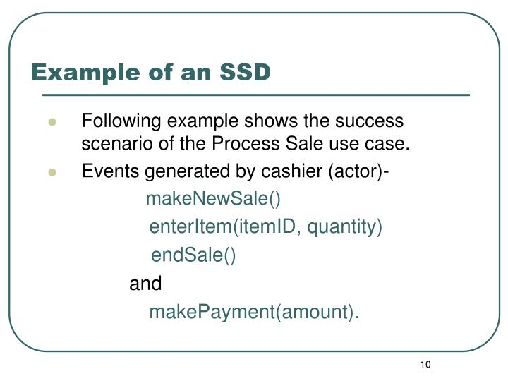 Example of an SSD