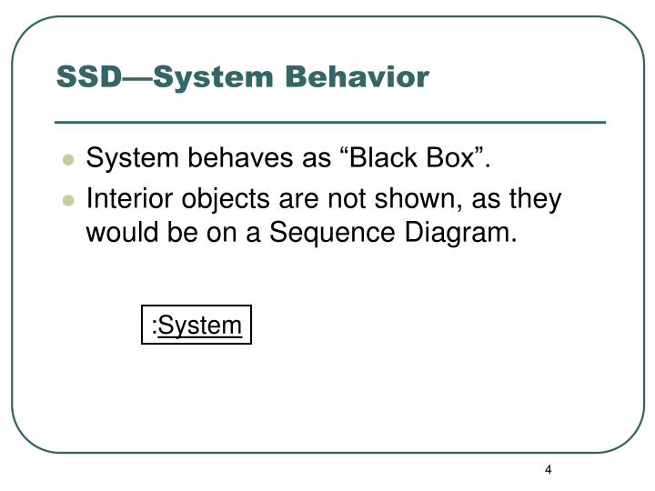 SSD—System Behavior