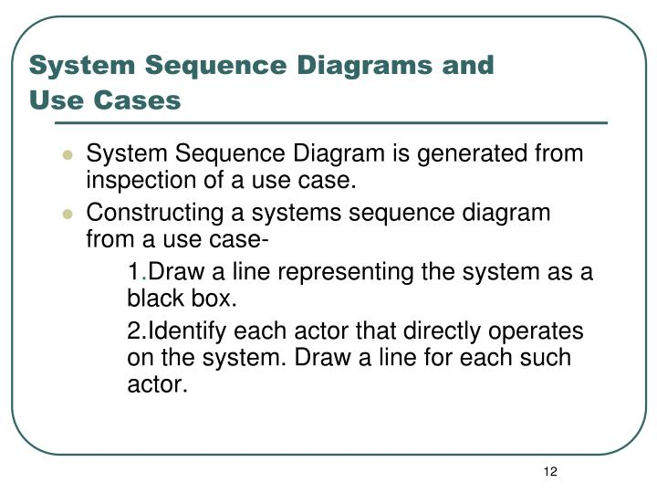 System Sequence Diagrams and Use Cases