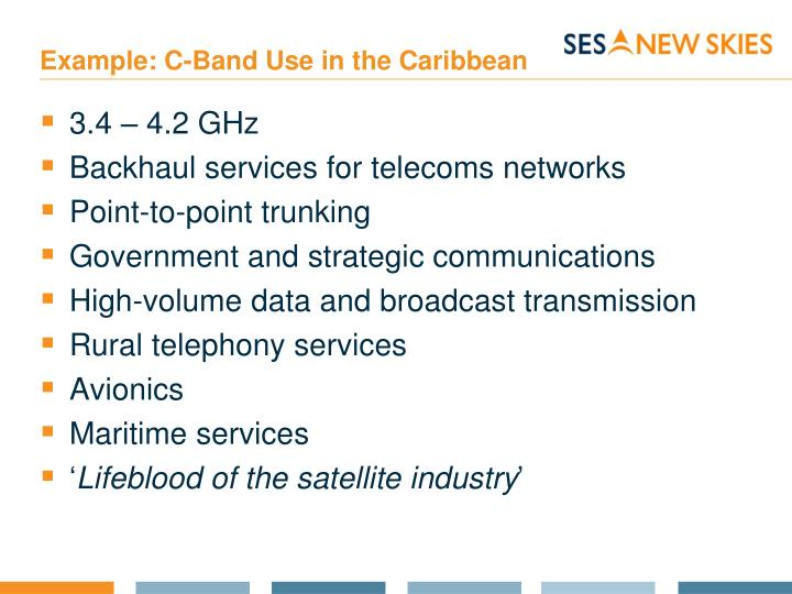 Example: C-Band Use in the Caribbean