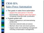 crm sfa sales force automation