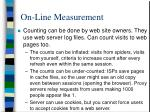 on line measurement