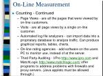 on line measurement1