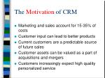 the motivation of crm
