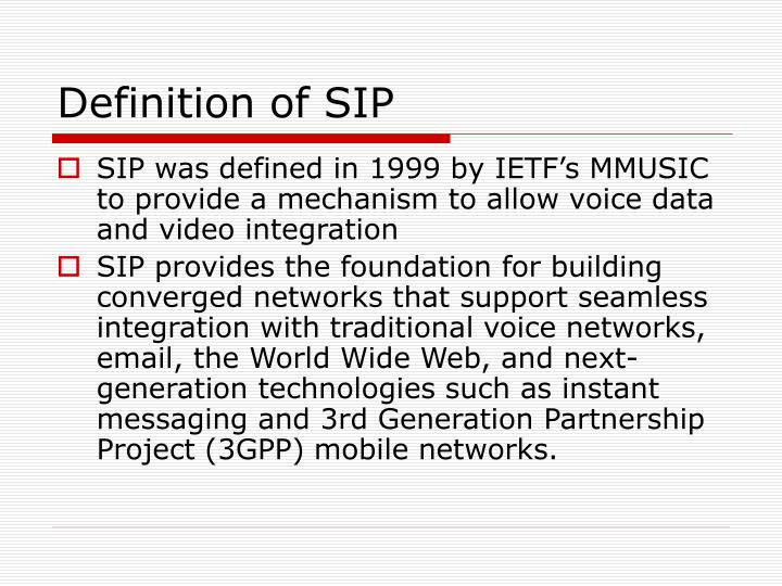 Definition of SIP