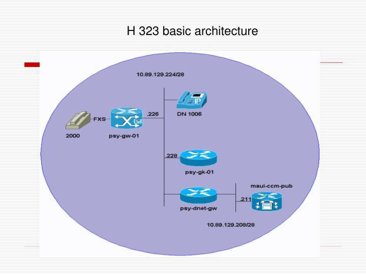 H 323 basic architecture