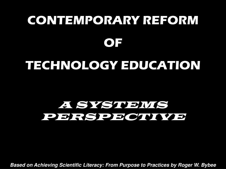 CONTEMPORARY REFORM
