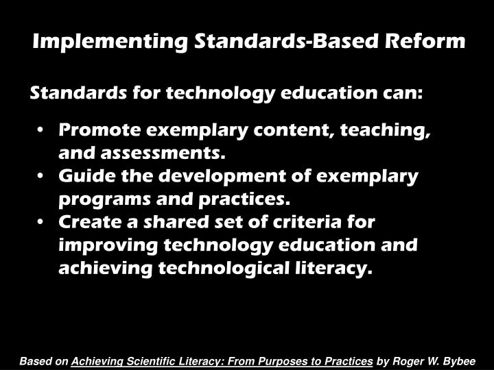 Implementing Standards-Based Reform