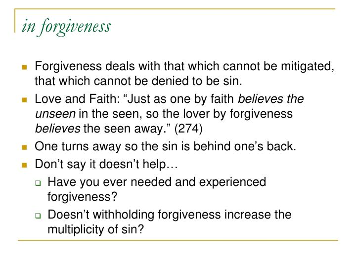 in forgiveness
