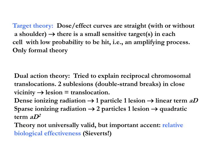Target theory: