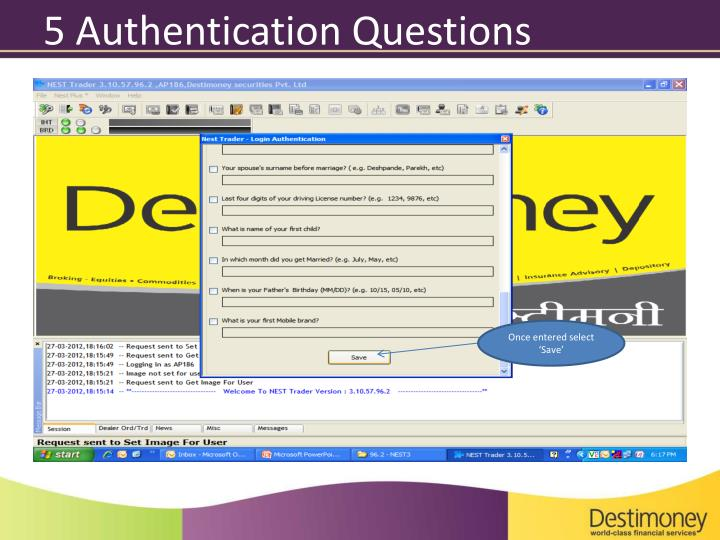 5 Authentication Questions