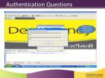 authentication questions